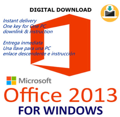 Ms Office 2013 Professional Plus 32/64 Bits Product Key Instant Send Worldwide
