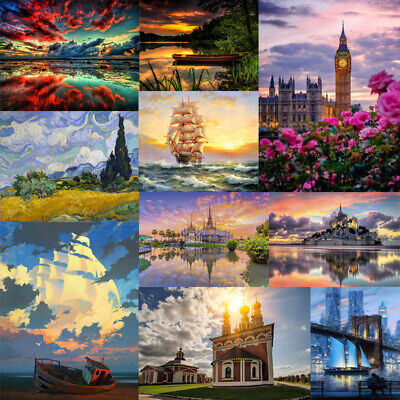DIY Paint By Number Kit Digital Oil Painting Artwork Wall Decor Natural Scenery