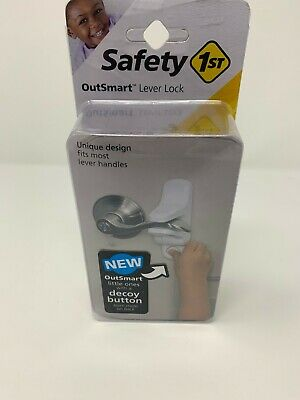 Safety 1st OutSmart Lever Lock, White New Decoy Button