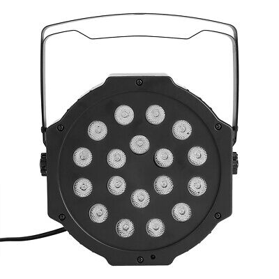 18 LED Flat Par Lights RGB Lamp for Club DJ Party Stage DMX512 Control KTV Party