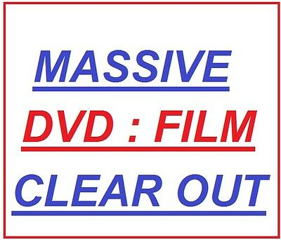 NEW & Used, Massive Movie Film DVD Clear Out, Loads Of Titles & Genres