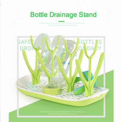 Baby Dry Bottle Rack Clean Drying Shelf Feeder Holder Infant Feeding Detachable