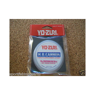 Fluorocarbon HD Yo-Zuri 15LBS 6.8kG 0.405 mm 28MT Colour Pink Made in Japan