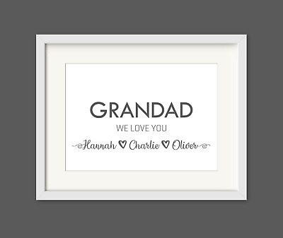 FATHERS DAY GIFT or Birthday for Daddy, Dad, Grandad, personalised print