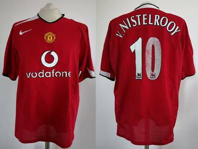 watch f9a79 159d2 MAGLIA MANCHESTER UNITED Nike 2004 2005 Van Nistelrooy Camiseta Shirt  Trikot V