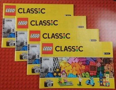 LEGO Classic 10698 Instructions ONLY x 4 copies NEW