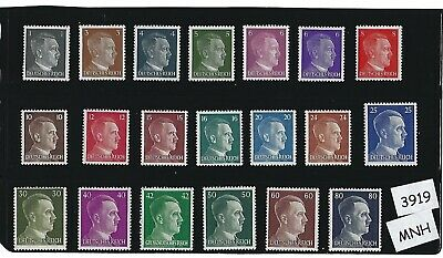 MNH stamp set / 20 Adolph Hitler stamps / Third Reich / Nazi Germany / 1941-1944