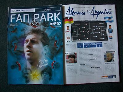 International Matches Programme Final Fifa World Cup 2014 / 2018, Uefa Euro 2016