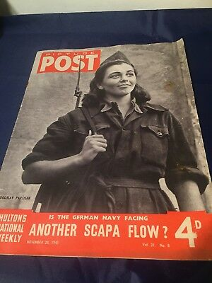 Nov 20th 1943 Picture Post WWII War Have We room For Refugees Messerschmitt