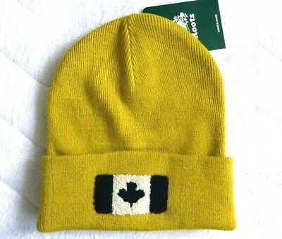 ROOTS of CANADA Antique Moss Tuque Beanie Classic Cuff Hat OSFA New Tags
