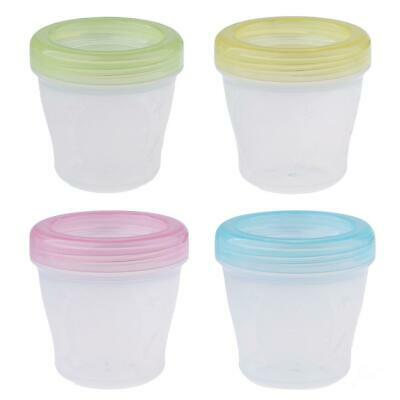 4xBaby Food Containers Reusable Stackable Freezer Safe Storage Sups Milk Bag