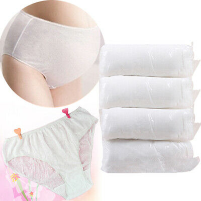 4x Cotton Women Briefs One Time Panty Travel Maternity Disposable Underwear