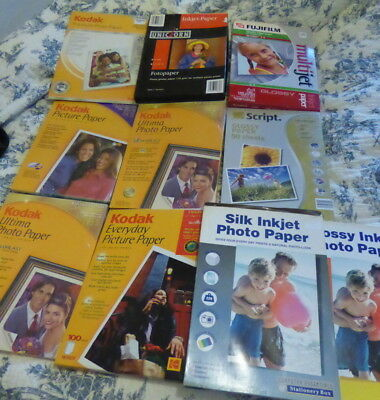 Kodak/Fuji/Unicorn Photographic Printer Paper  Lot Approx 400 Sheets-