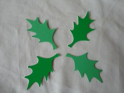 40 Hand Punched Large Holly Leaves Will Be Sent First Class