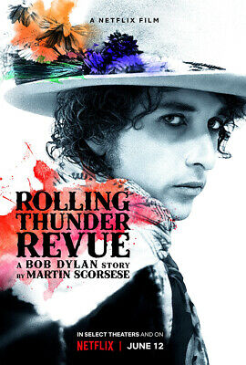 "Rolling Thunder Revue A Bob Dylan Story Poster 48x32"" Scorsese Martin Print Silk"