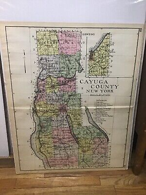 Cayuga County New Century Atlas Map Counties Of The State Of Ny 24X30