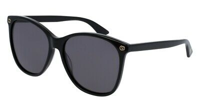NEW Gucci Sensual Romantic GG 0024S Sunglasses 001 Black 100% AUTHENTIC