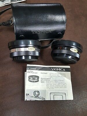 Yashica Telephoto and Wide Angle Auxiliary Lenses, 55mm thread