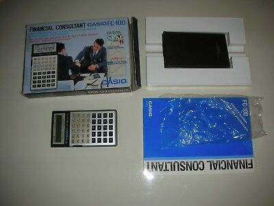 Casio Fc-100 Financial Consultant Vintage Made In Japan Completa!