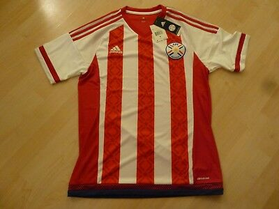 0a0793277 NWT Adidas 2016 Copa America Paraguay Red/White Home Jersey (Men Size  Medium)