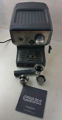 CRUX CRUX006 15 Bar Barista Coffee Espresso Machine Steam Wand Latte Cappuccino