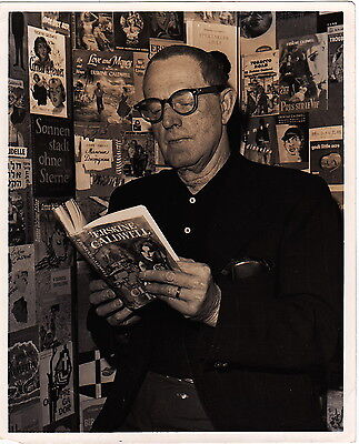 ERSKINE CALDWELL with His Books Iconic VINTAGE Classic Iconic1964 press photo
