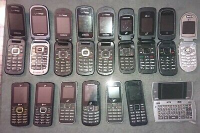 X16 LOT of Used Cellphones, AS IS FOR PARTS ONLY flip phones