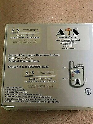 ATS Touch 'N Talk Medical Alert Pendant with 2-way Voice Pendant Communicator