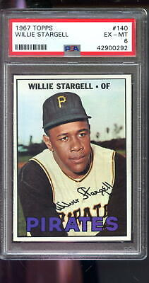 1967 Topps #140 Willie Stargell Pirates EX-MT PSA 6 Graded Baseball Card MLB