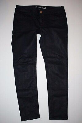 58331fcd70ecbe American Eagle Outfitters Womens Size 12 Jegging Skinny Jeans Shiny Dark  Blue