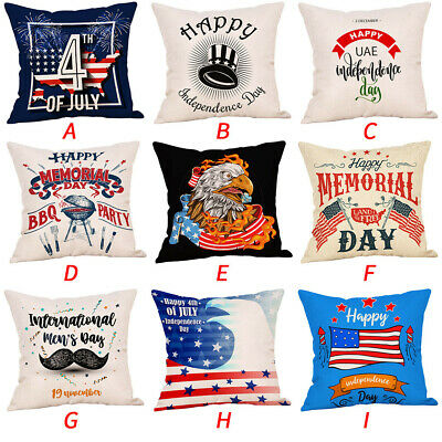 Cushion Cover Happy Independence Day Pillow Cases Sofa Cushion Home Decor Pillow
