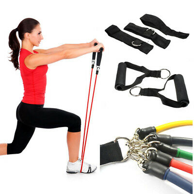 11pcs/Set Resistance Bands Exercise Workout Pull Tubes Strength Training Rope