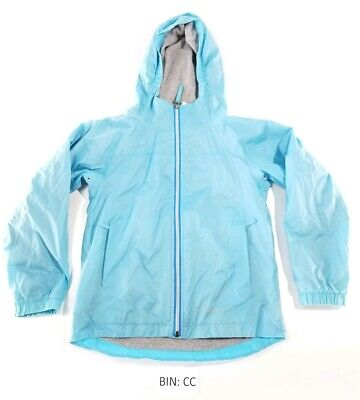 *NEW JUSTICE GIRLS SIZE 10 12 TROPICAL WINDBREAKER WATER RESISTANT HOODED JACKET