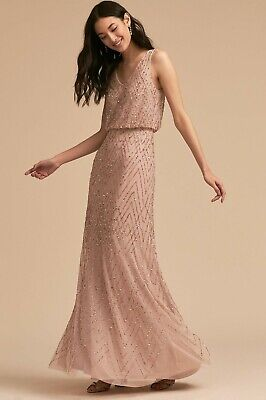 c87cd4d4df3 ANTHROPOLOGIE BHLDN BLUSH Pink Brit Dress Size 0 -  50.00