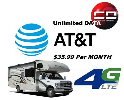 Unlimited Data Plan 4G LTE AT&T Unthrottled $34.99/Month Hotspot Tablet Phone