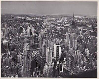 Chrysler Building & Skyscrapers New York Iconic VINTAGE c. 1930s Modernist photo