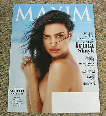 IRINA SHAYK - Maxim Magazine - July/August 2014