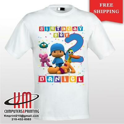 Pocoyo  Custom T-shirt PERSONALIZED Birthday Shirt Age