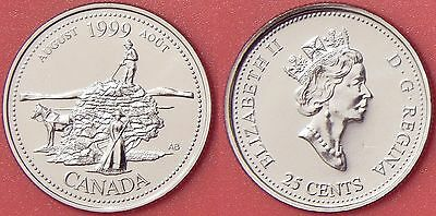 Proof Like 1999 Canada August 25 Cents From Mint's Set