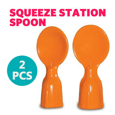 2 PCS New Baby Squeeze Feeding Spoons Reusable Toddler Fruit Maker Dispenser