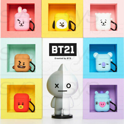 BTS BT21 Official Silicone Charging Airpods Case Cube Ver_with tracking number