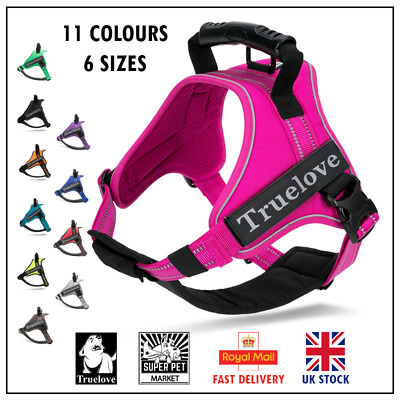 Genuine Truelove Dog Strong Handle Harness: Adjustable XS S M L XL XXL 7 Colours