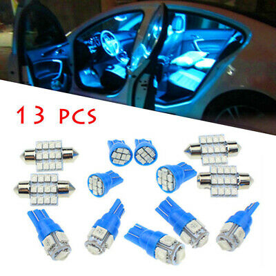 13x LED Lights Interior Package Kit For Dome License Plate Lamp Bulb Accessories