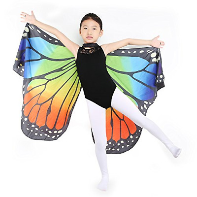 Dance Fairy Monarch Butterfly Wings Cape Dance Costume for Kids/Adult Wings