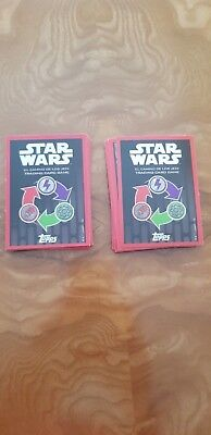 6 CARTAS Star wars el camino de los jedi o  Forcé Attax CARREFOUR
