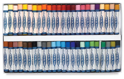 Holbein Oil Pastels - Boxed Set of 48 Large Round Sticks