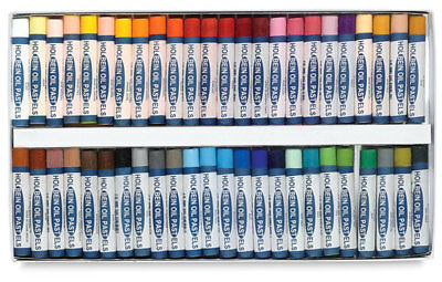 Holbein Student Oil Pastels - Boxed Set of 48 Large Round Sticks