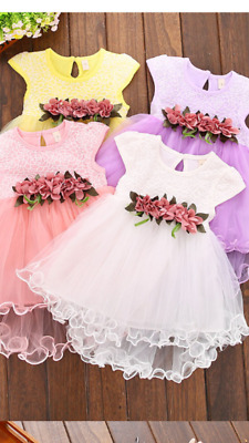a9e1dae2967254 Abito bambina neonata estate vari colori 12-36 mesi baby girl dress summer