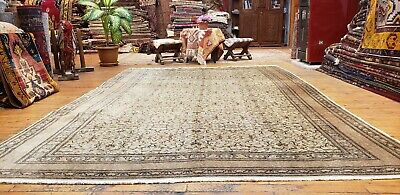 Stunning Cr1900-1939s Antique Wool Pile Muted Colors Hereke Rug 7x10ft