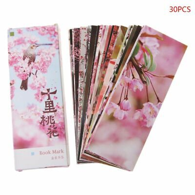 30pcs Peach Blossom Chinese Style Paper Bookmarks Painting Cards Retro Bookmark